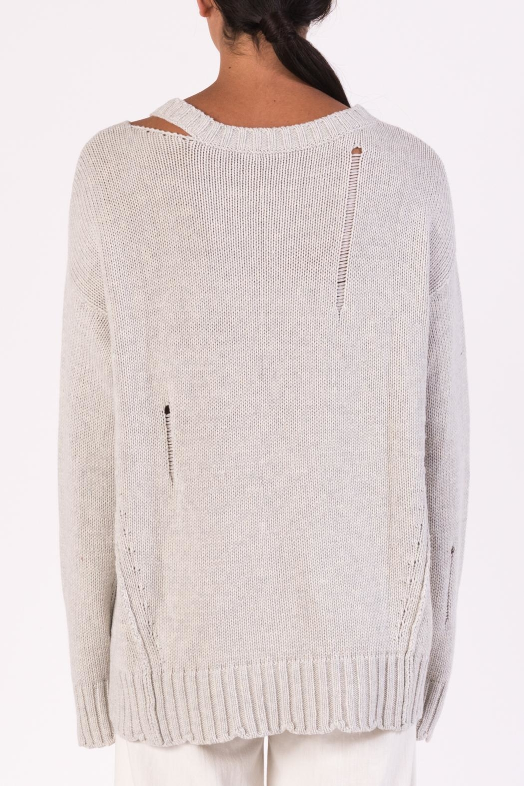 Margaret O'Leary Cotton Grunge Sweater - Side Cropped Image