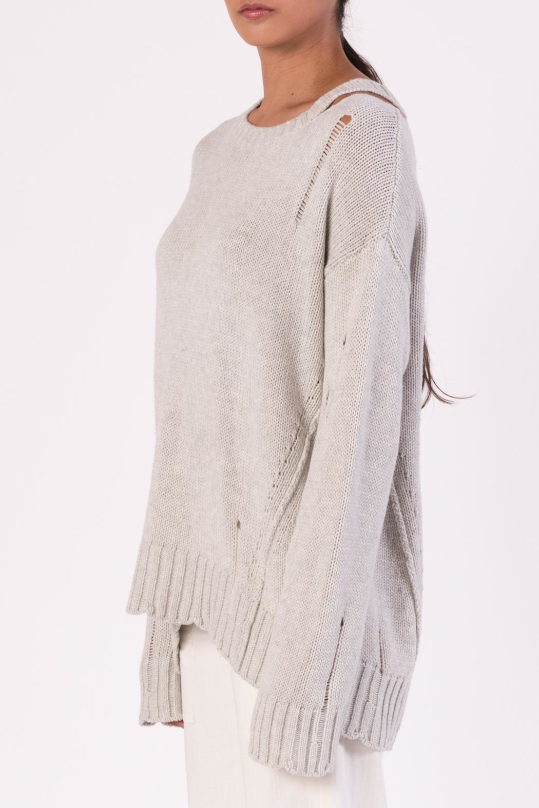 Margaret O'Leary Cotton Grunge Sweater - Front Full Image
