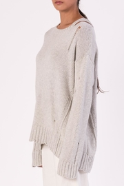 Margaret O'Leary Cotton Grunge Sweater - Front full body
