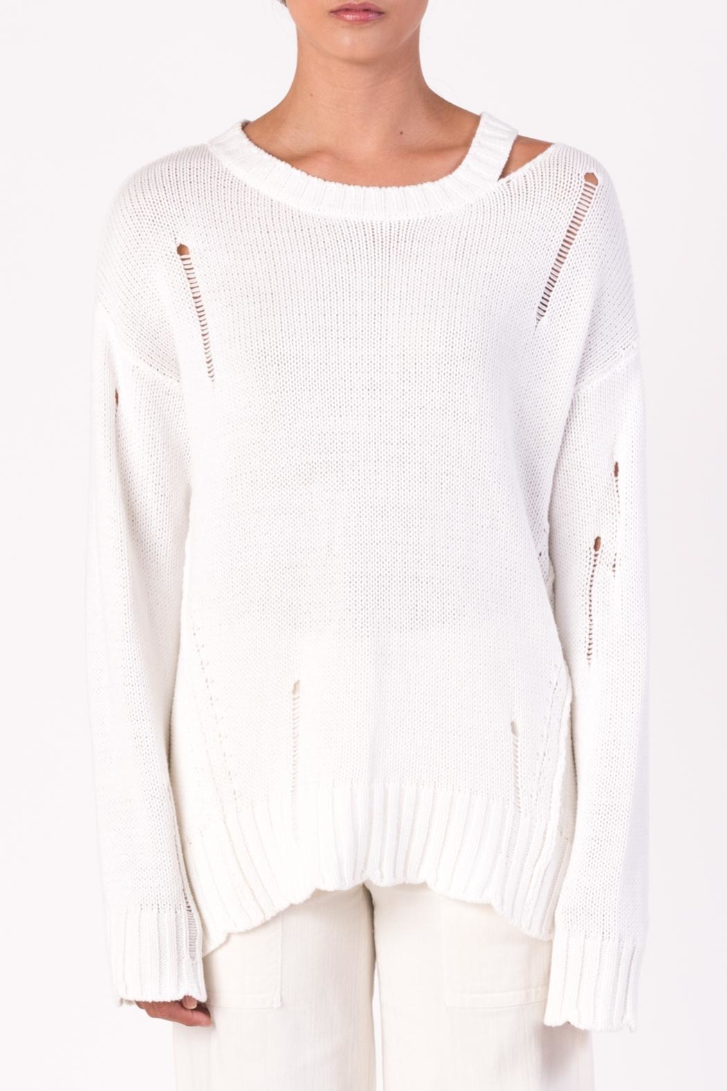 Margaret O'Leary Cotton Grunge Sweater - Main Image