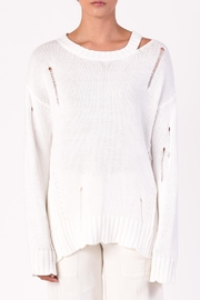 Margaret O'Leary Cotton Grunge Sweater - Front cropped