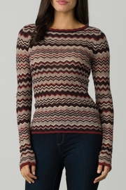 Margaret O'Leary Ellie Chevron Boatneck - Product Mini Image
