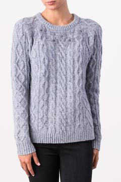 Shoptiques Product: Embroidered Cable Crew Sweater