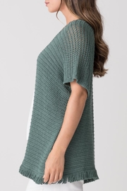 Margaret O'Leary Fringe Throw-On - Front full body