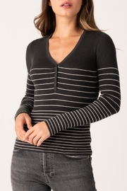 Margaret O'Leary Gracey Rib Henley - Front cropped