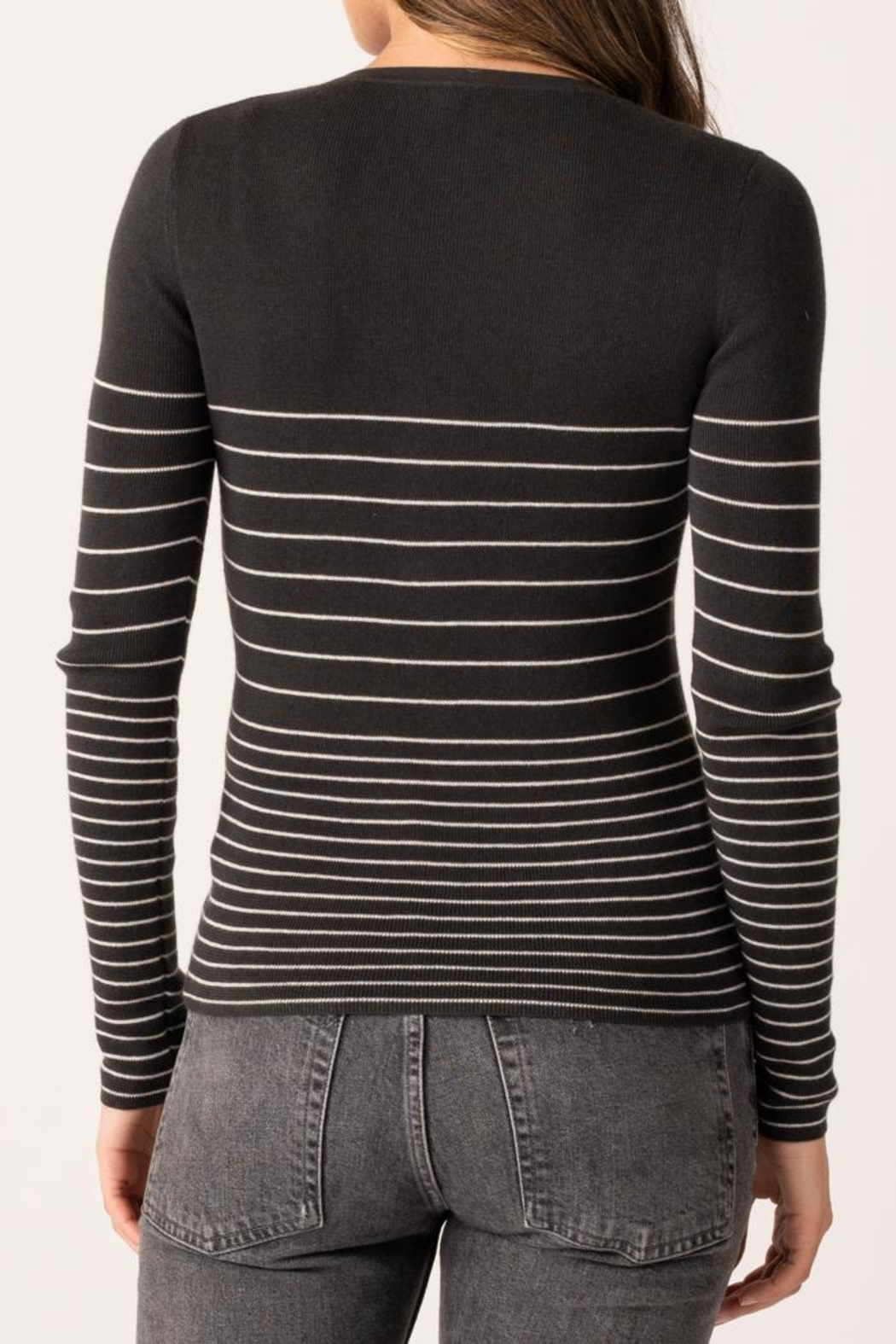 Margaret O'Leary Gracey Rib Henley - Side Cropped Image