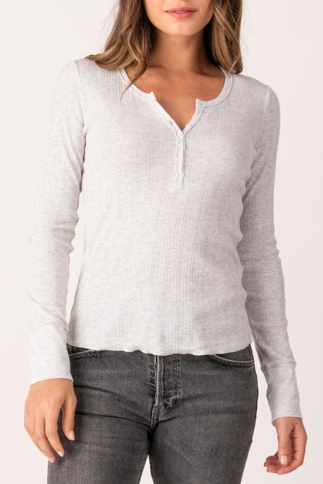 Margaret O'Leary Heirloom Henley - Front Cropped Image