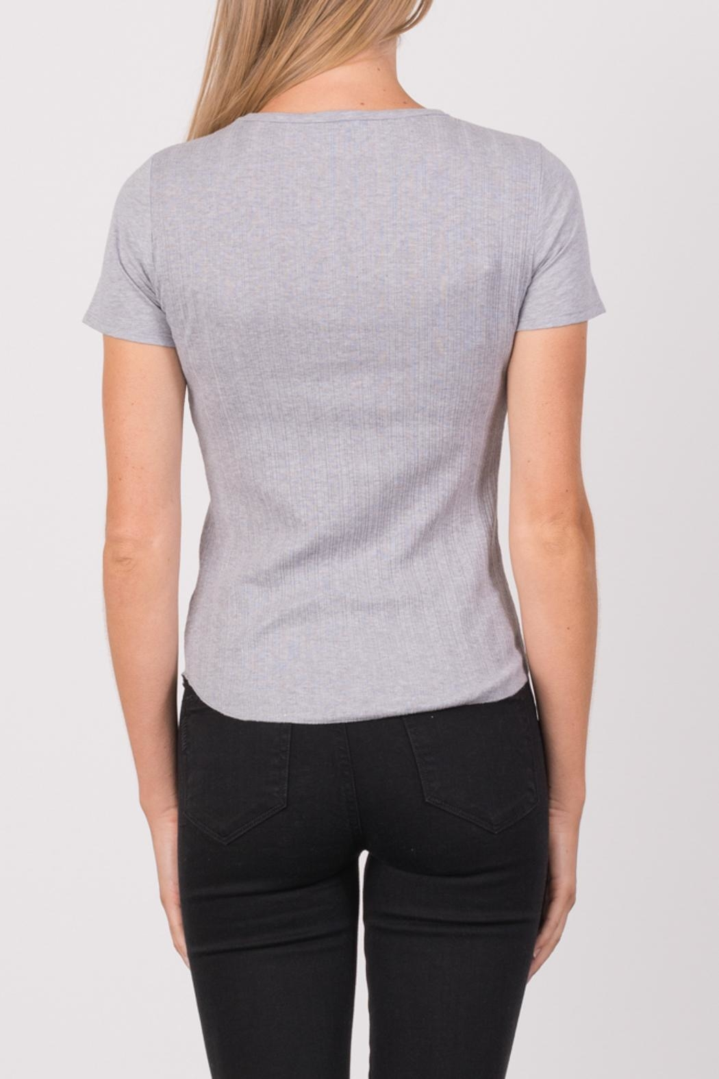 Margaret O'Leary Heirloom Short Sleeve Crew - Side Cropped Image