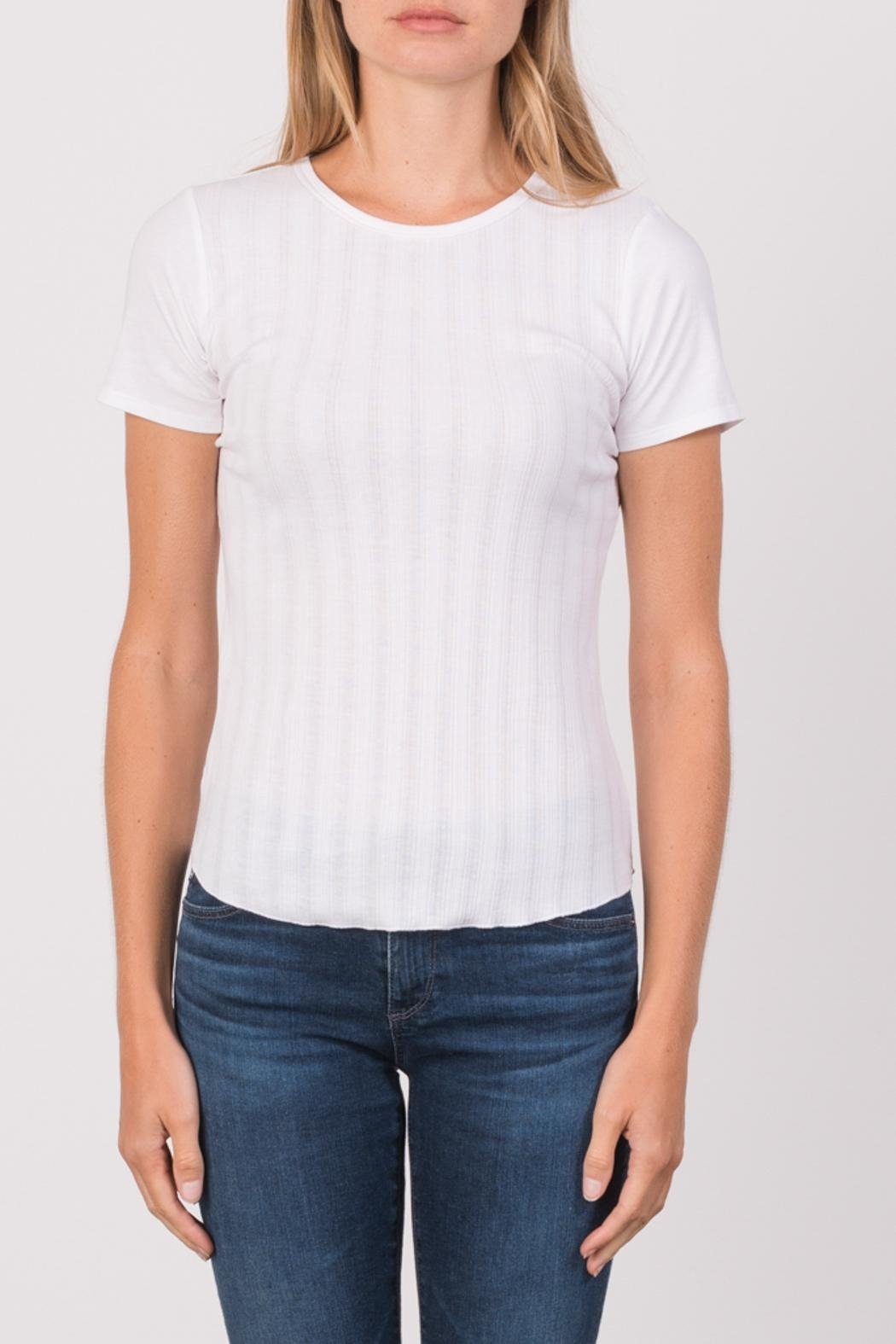 Margaret O'Leary Heirloom Short Sleeve Crew - Front Cropped Image
