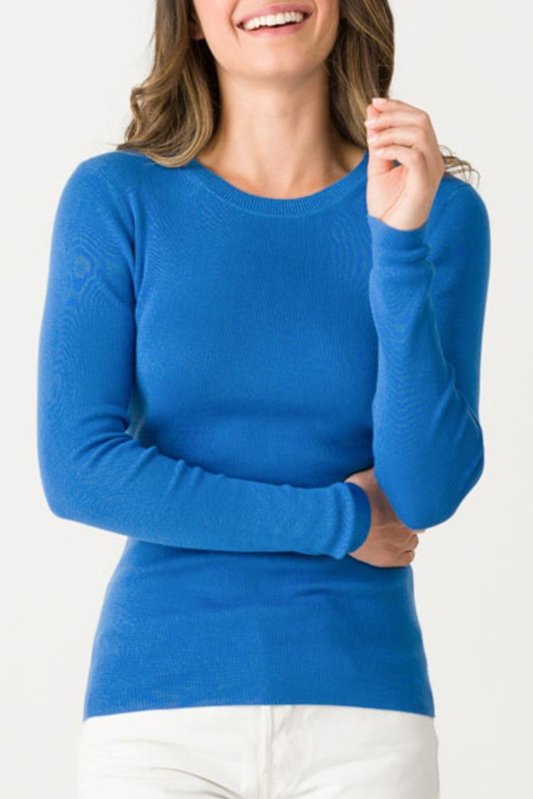 Margaret O'Leary Jane Ribbed Crew - Front Cropped Image