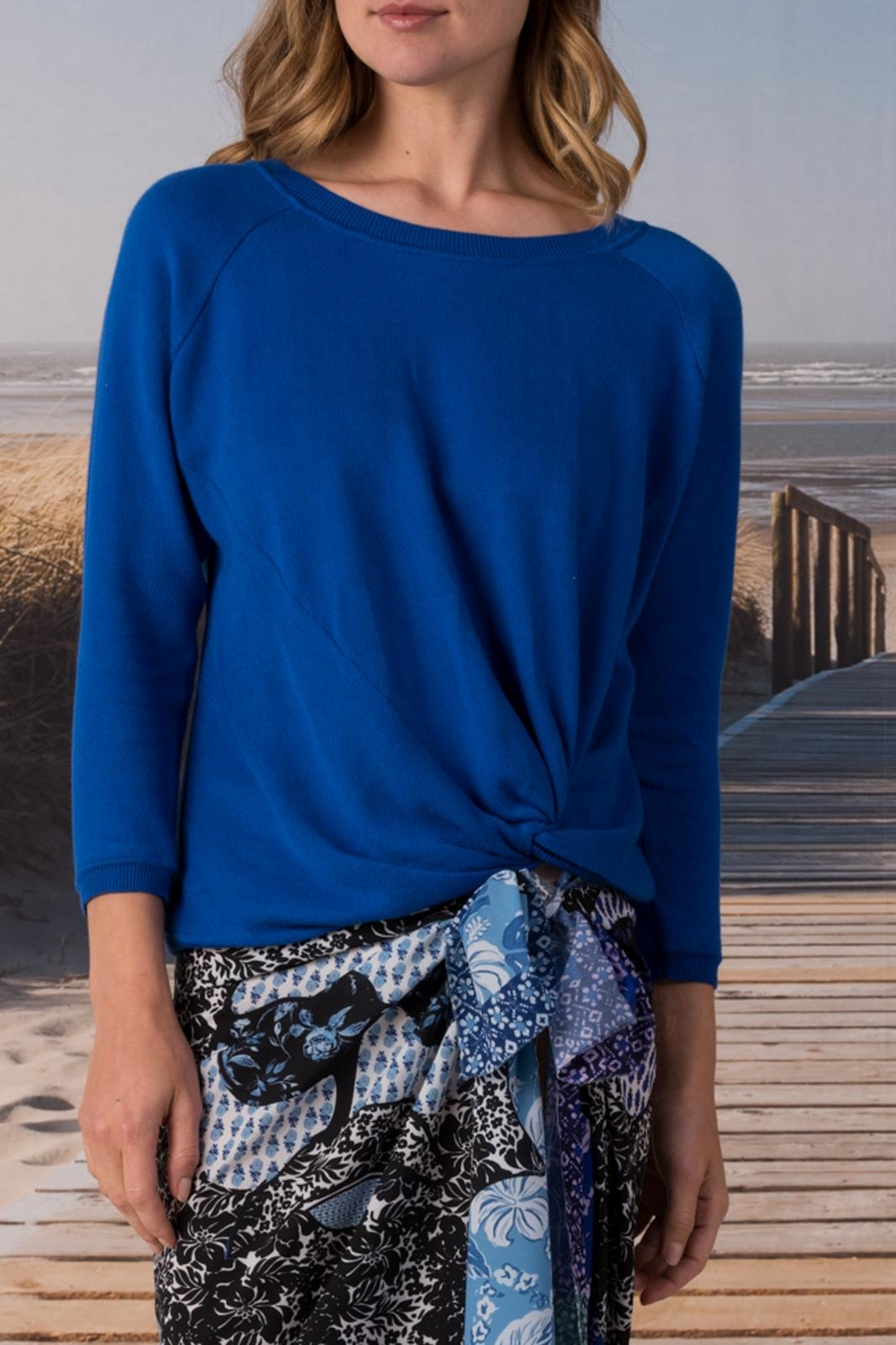 Margaret O'Leary Knotted Sweatshirt - Front Cropped Image