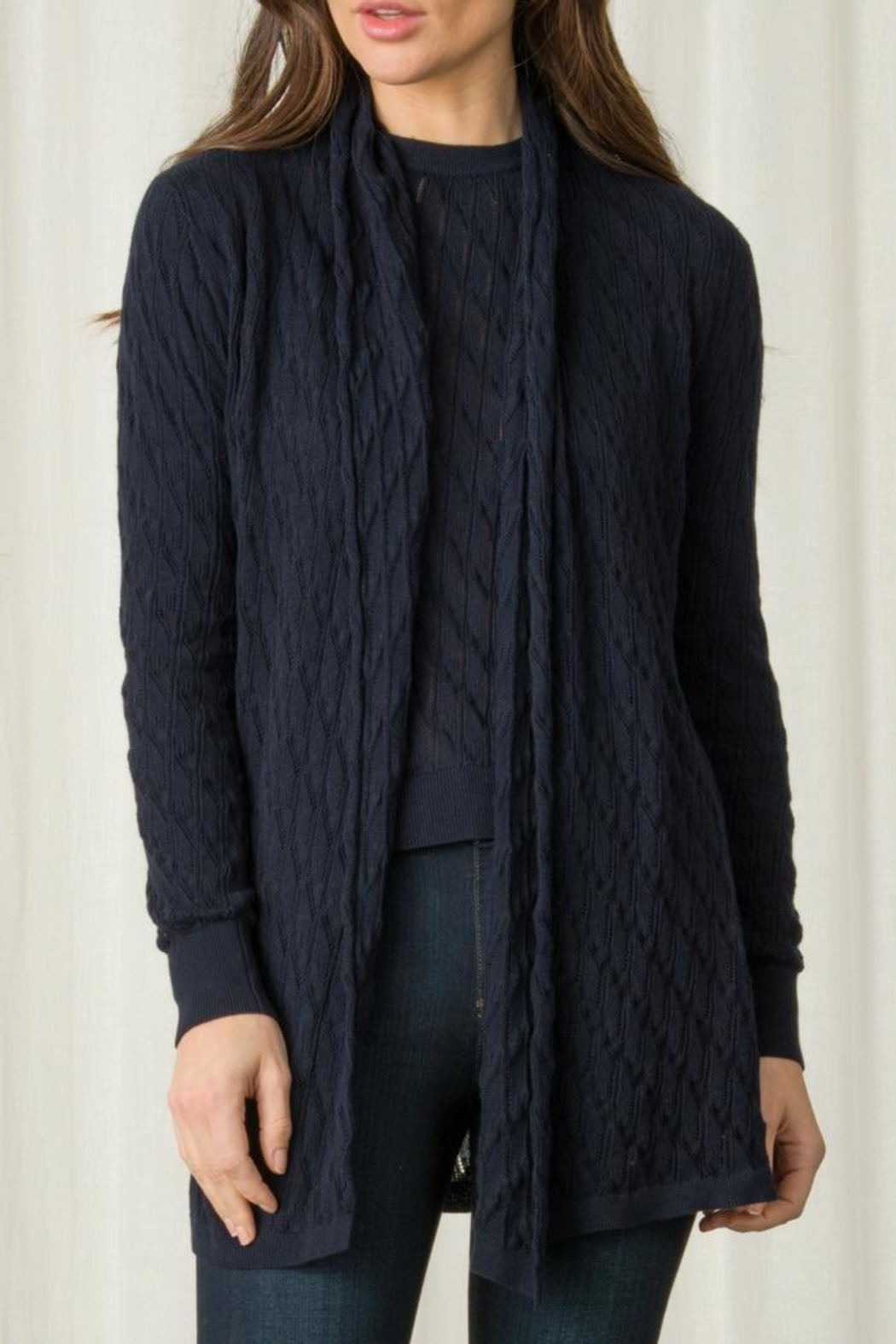 Margaret O'Leary Lace Stitch Duster - Front Cropped Image