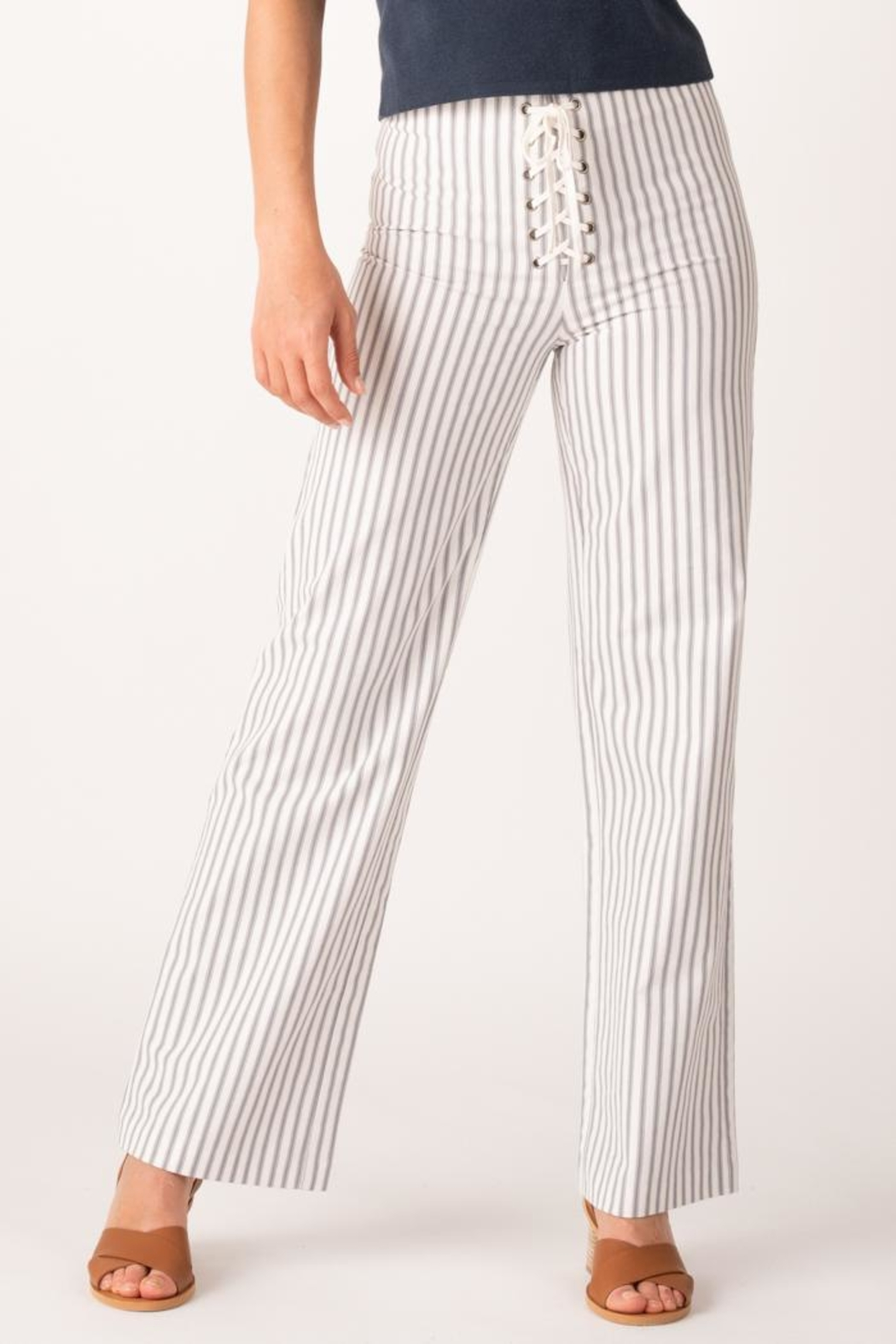 Margaret O'Leary Lace Up Pant - Front Cropped Image