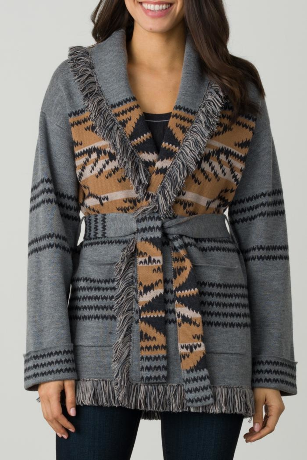 Margaret O'Leary Navajo Shawl Collar - Front Cropped Image