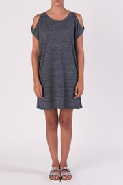 Margaret O'Leary Gray Off Shoulder Dress - Front cropped