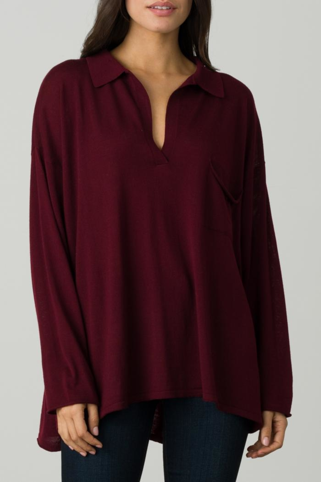 Margaret O'Leary Oversize Polo - Front Cropped Image