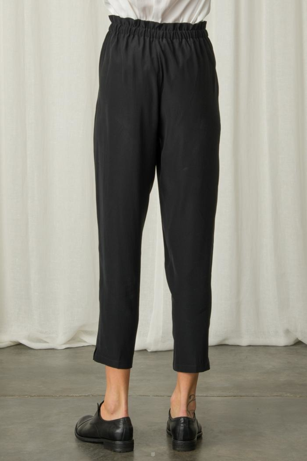 Margaret O'Leary Paperbag Silk Pant - Back Cropped Image