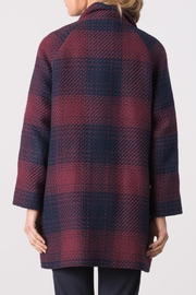 Margaret O'Leary Plaid Penny Coat - Back cropped