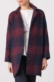 Margaret O'Leary Plaid Penny Coat - Front cropped