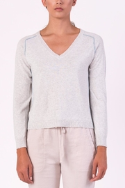 Margaret O'Leary Piping Vneck Sweater - Product Mini Image