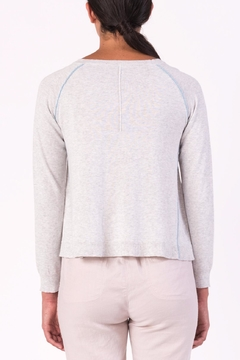 Margaret O'Leary Piping Vneck Sweater - Alternate List Image