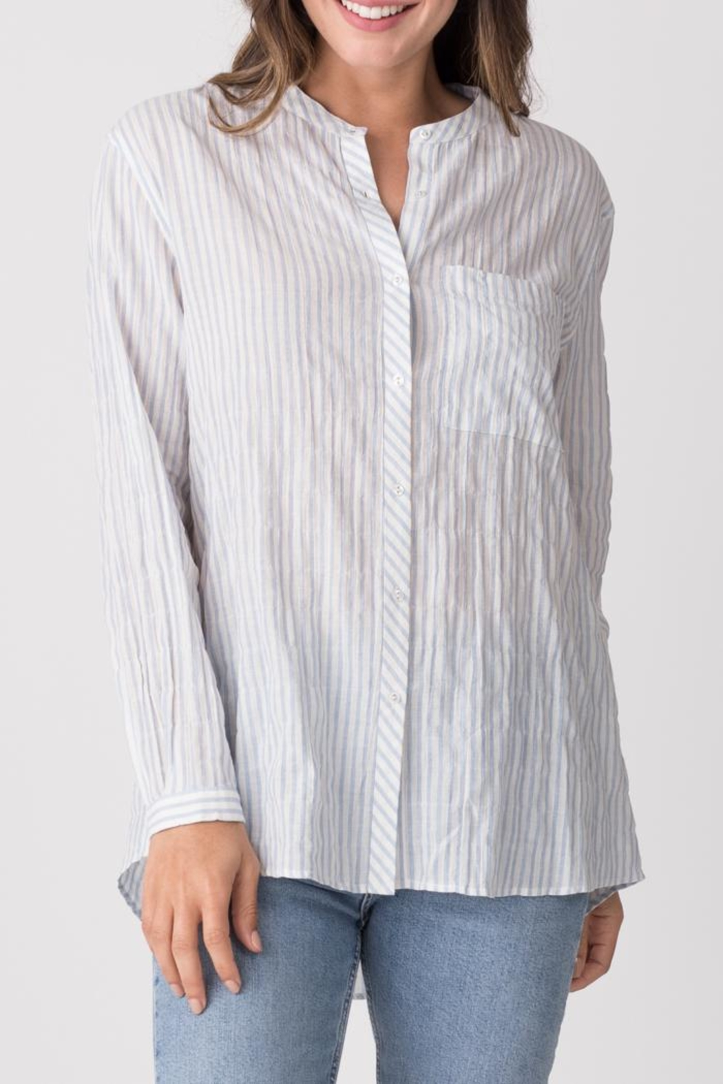 Margaret O'Leary Relaxed Striped Shirt - Main Image