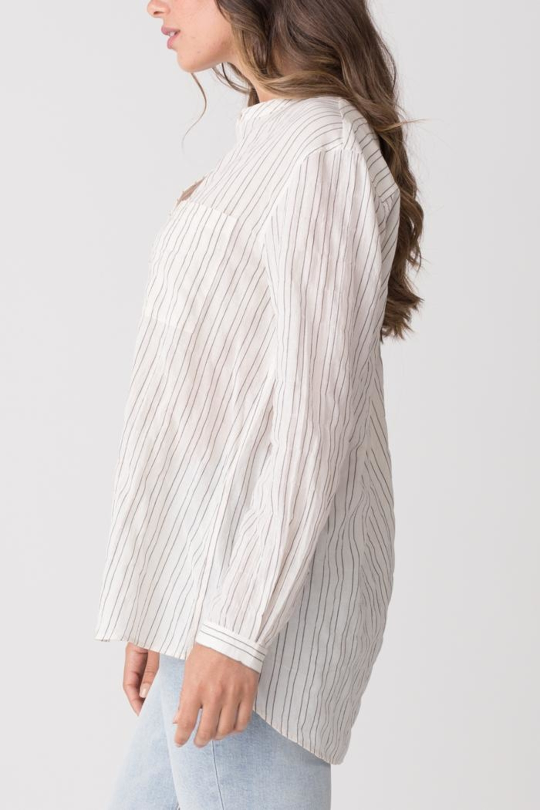 Margaret O'Leary Relaxed Striped Shirt - Front Full Image