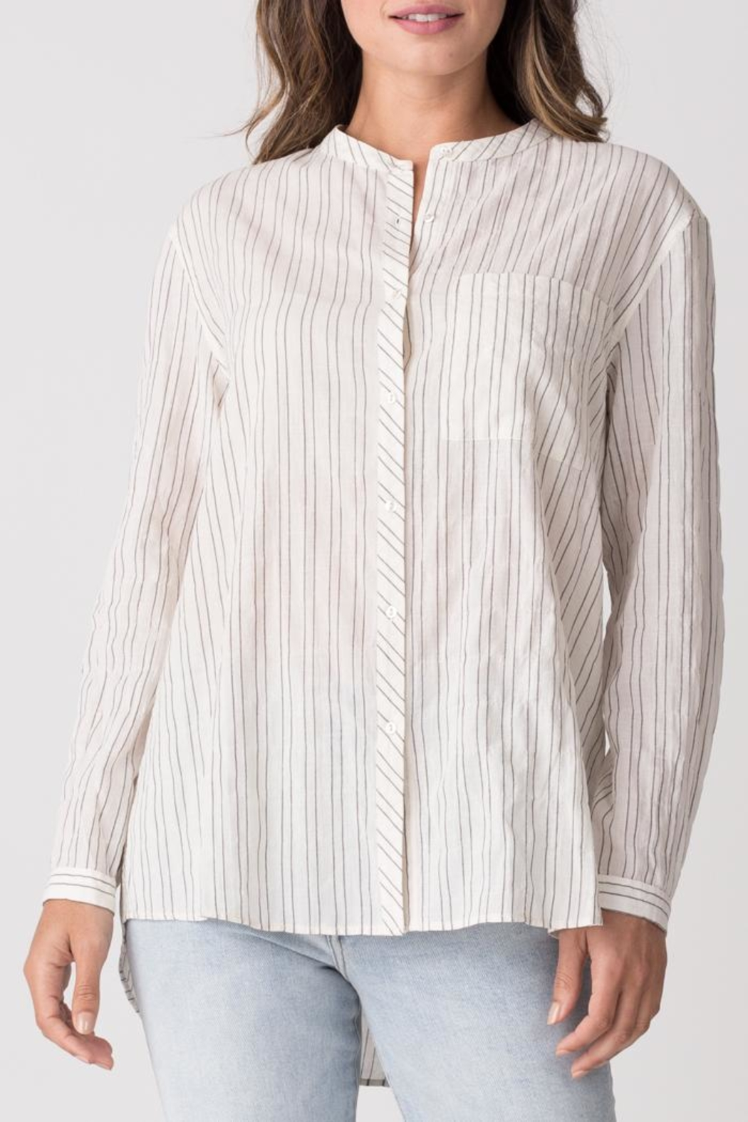 Margaret O'Leary Relaxed Striped Shirt - Front Cropped Image