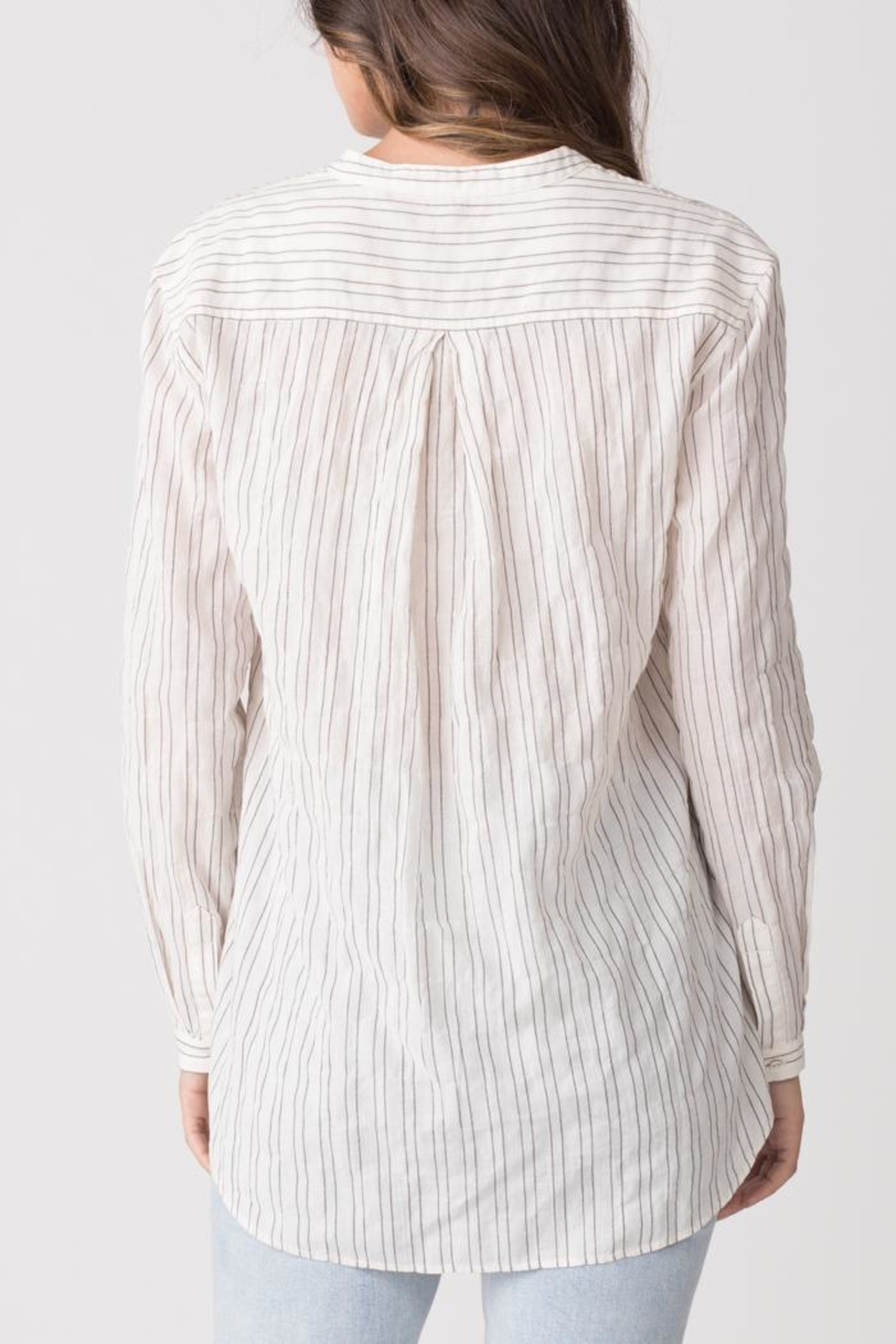 Margaret O'Leary Relaxed Striped Shirt - Side Cropped Image
