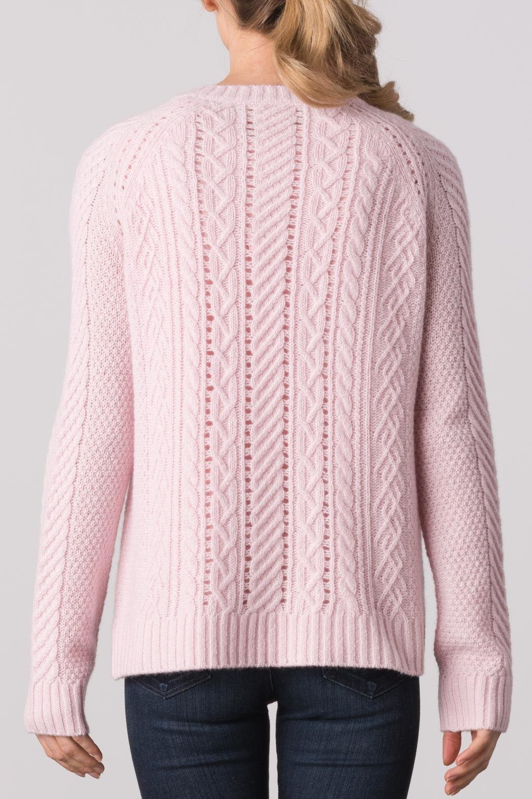 Margaret O'Leary Sarah Cable Crew Sweater - Side Cropped Image