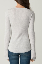 Margaret O'Leary Shirttail Waffle Crew - Back cropped