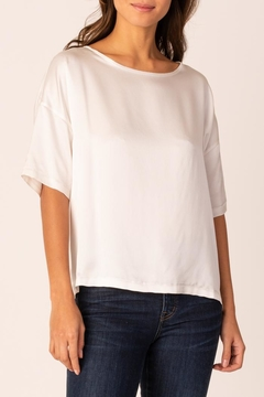 Margaret O'Leary Silk Boxy Tee - Product List Image