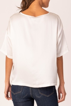 Margaret O'Leary Silk Boxy Tee - Alternate List Image