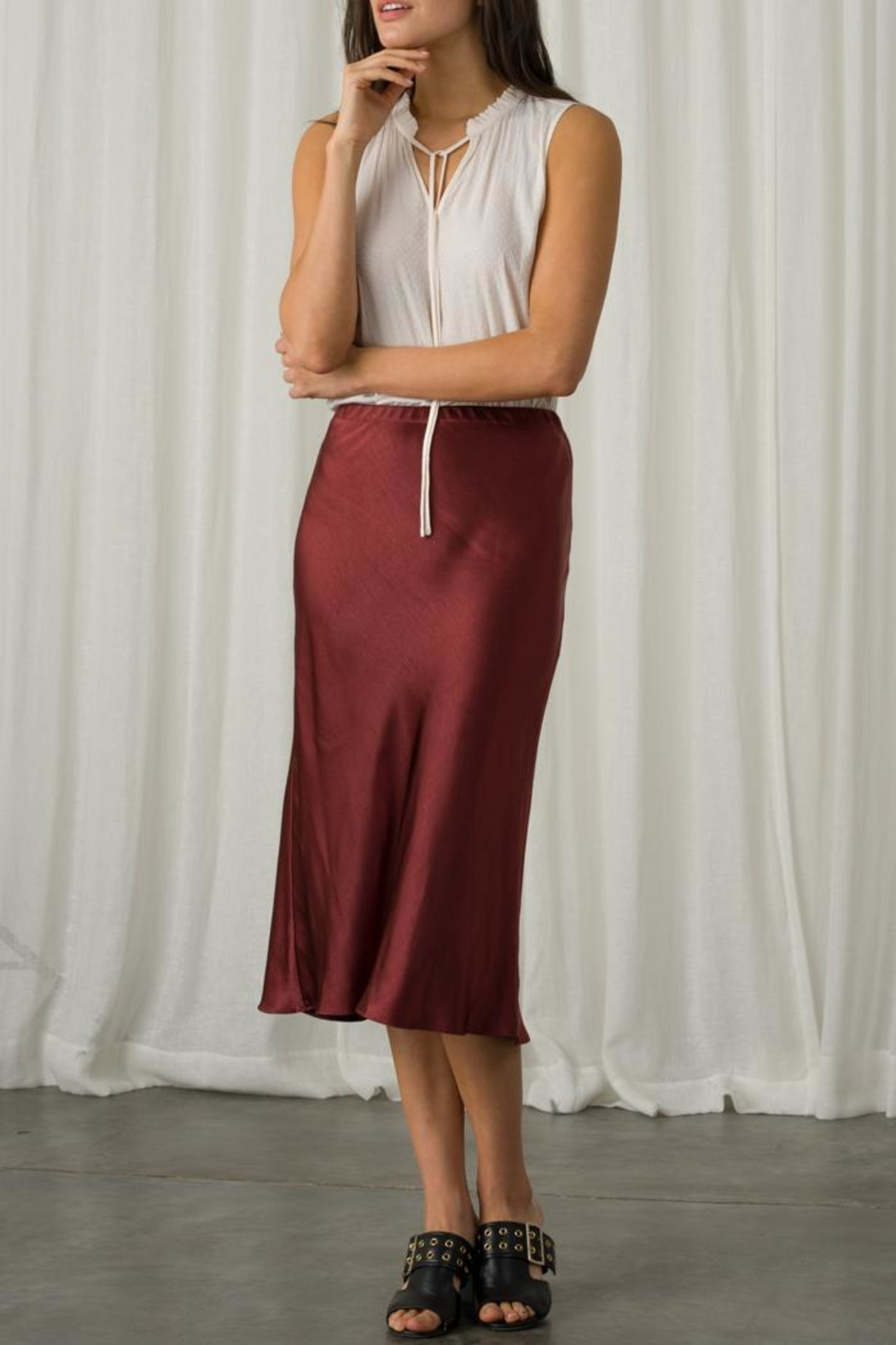 Margaret O'Leary Sleeveless Tie Top - Side Cropped Image