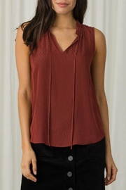 Margaret O'Leary Sleeveless Tie Top - Front cropped
