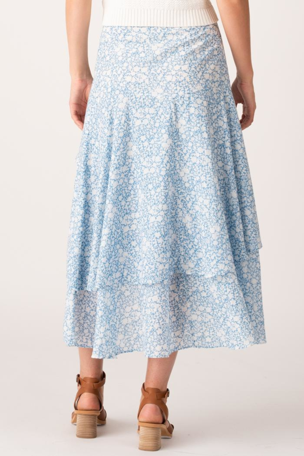 Margaret O'Leary Sonia Tiered Skirt - Side Cropped Image