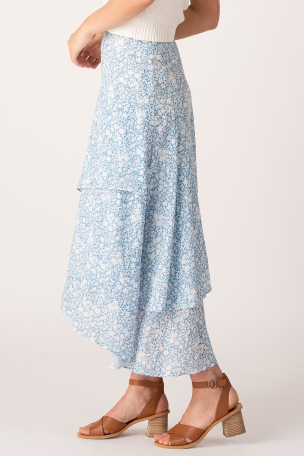 Margaret O'Leary Sonia Tiered Skirt - Front Full Image