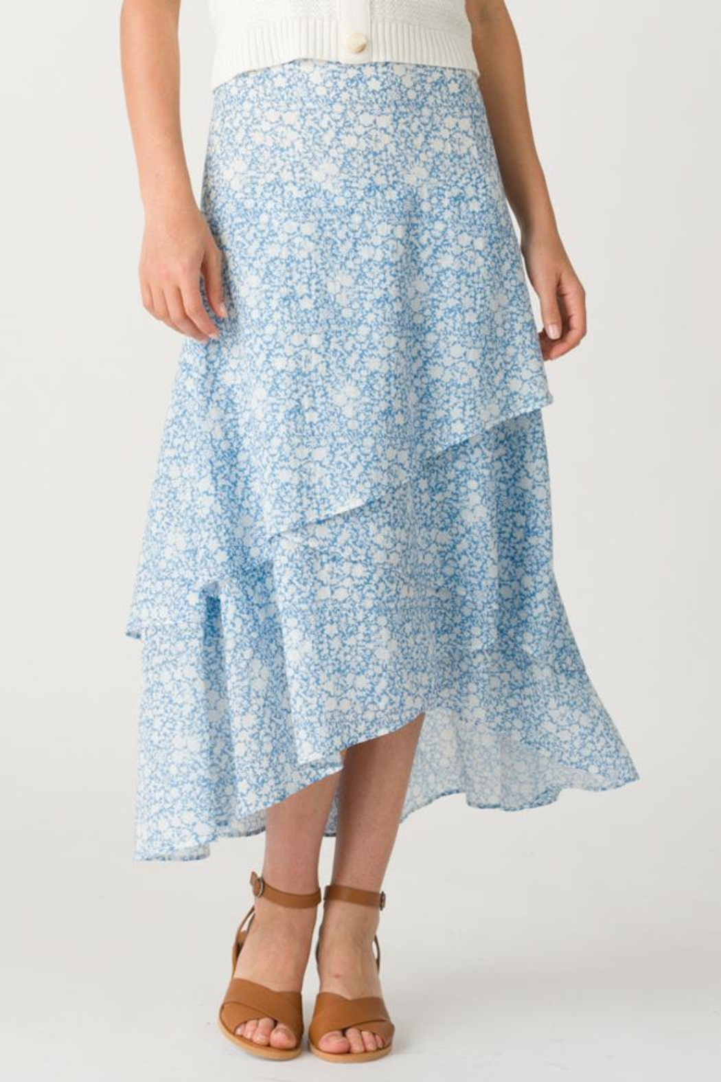 Margaret O'Leary Sonia Tiered Skirt - Main Image