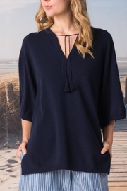 Margaret O'Leary Split Neck Pullover - Product Mini Image
