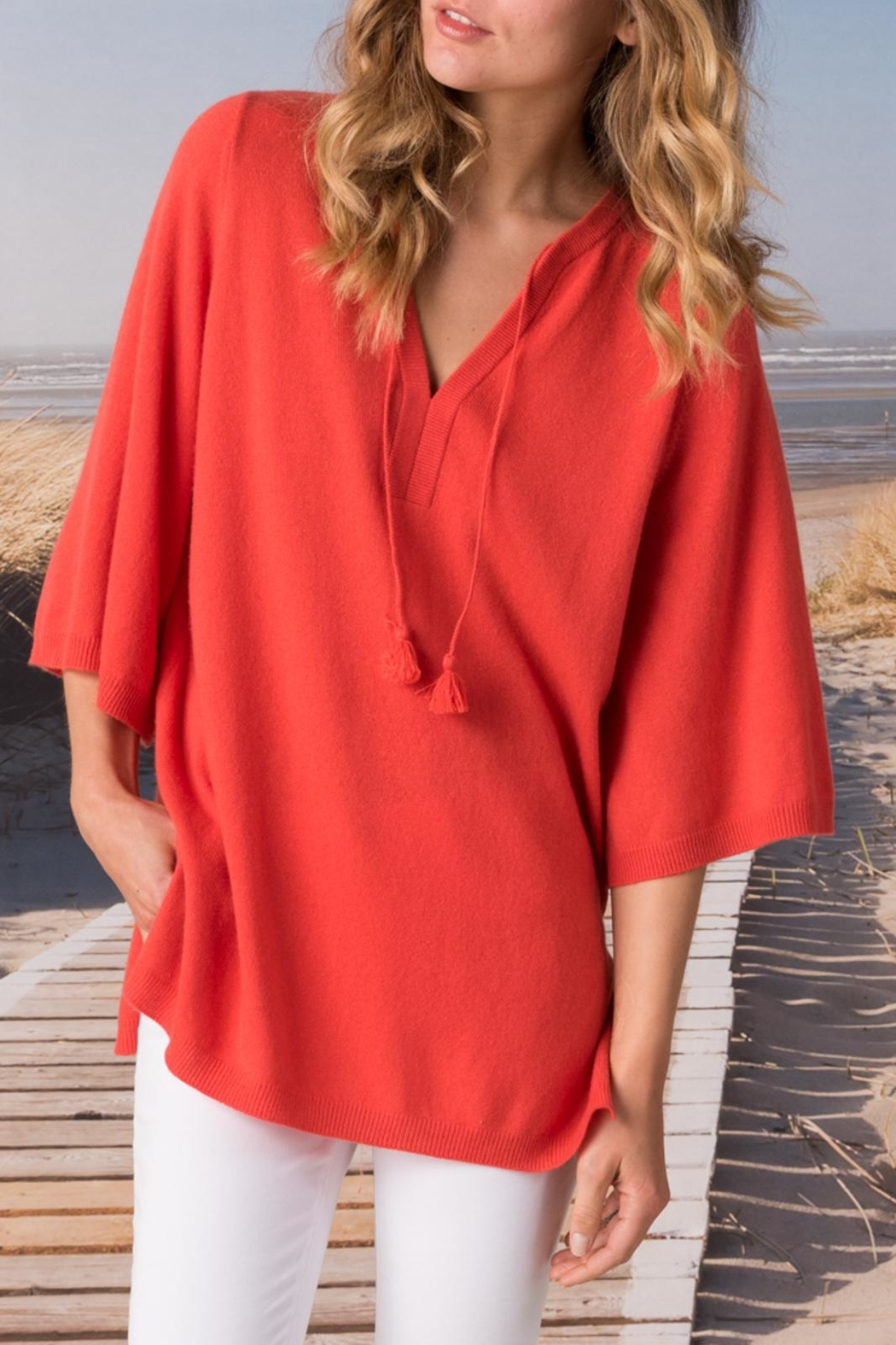 Margaret O'Leary Split Neck Pullover - Front Cropped Image