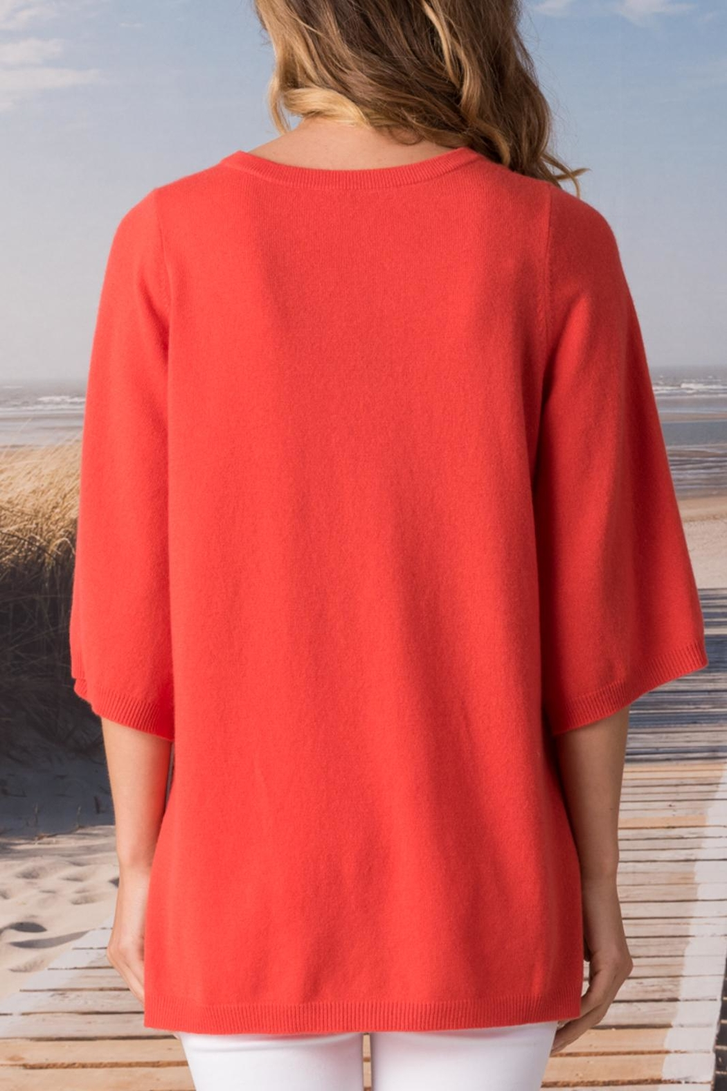 Margaret O'Leary Split Neck Pullover - Front Full Image