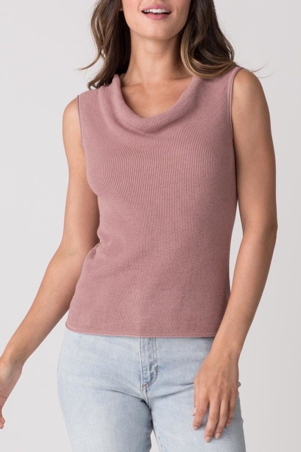 Margaret O'Leary Thermal Cowl Tank - Front Cropped Image