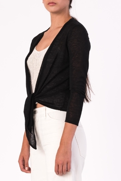 Margaret O'Leary Tie Front Cardigan - Alternate List Image