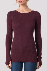 Margaret O'Leary Waffle Crew Neck Tee - Front cropped
