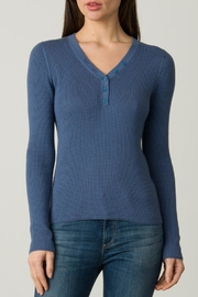 Margaret O'Leary Waffle Henley - Front full body