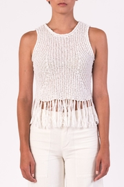 Margaret O'Leary White Fringe Tank - Front cropped