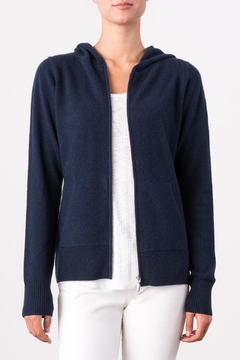 Shoptiques Product: Navy Hooded Sweater