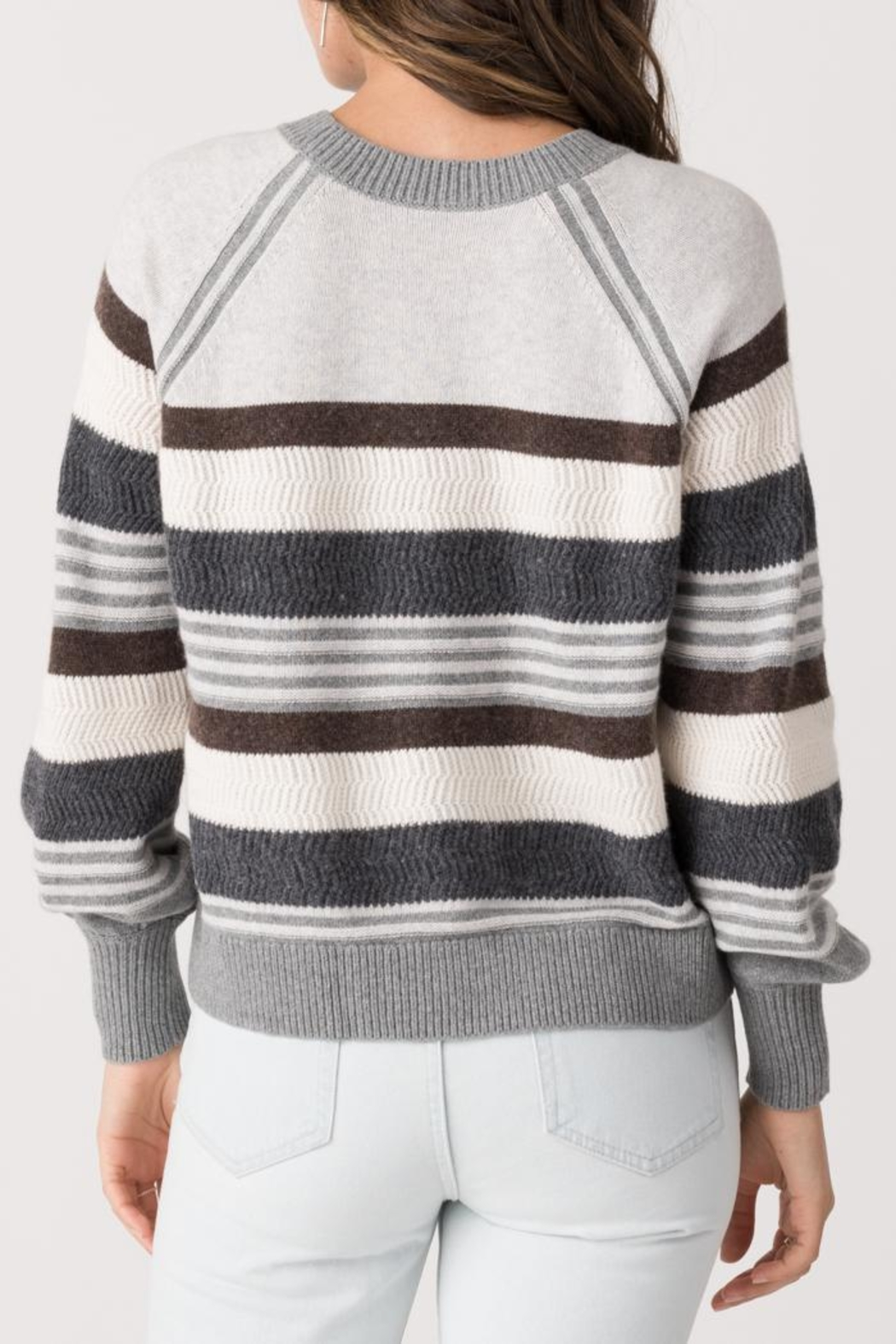 Margaret O'Leary Zoey Striped Crew - Side Cropped Image