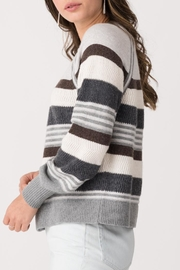 Margaret O'Leary Zoey Striped Crew - Front full body