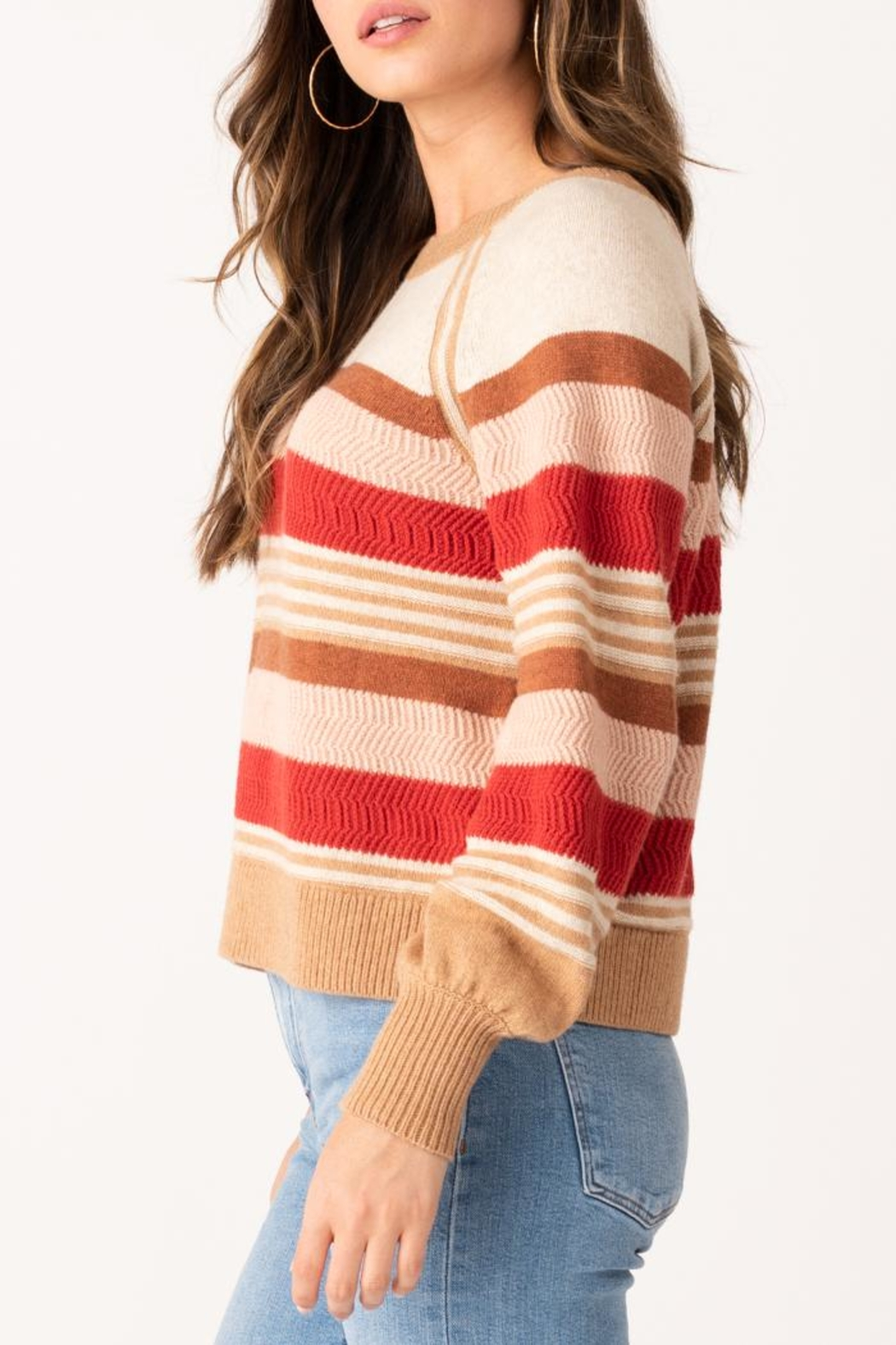 Margaret O'Leary Zoey Striped Crew - Front Full Image